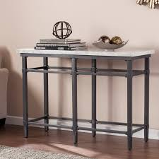 Marble Console Table Tulane Faux Marble Console Table Southern Enterprises Inc Ck0443
