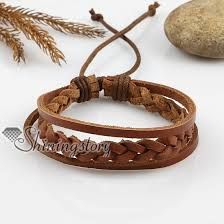 leather ladies bracelet images Adjustable woven leather bracelets for men and women wholesale jpg