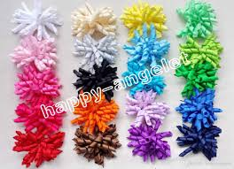 ribbon hair bow 3 5 children s curly ribbon hair bows flowers corker