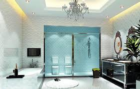 Crystal Chandelier For Bathroom Bathroom Modern Bathroom Lighting With Round Pattern Ceiling Lamp