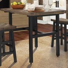 Counter Height Rustic  Farmhouse Kitchen  Dining Tables Youll - Dining room table wood