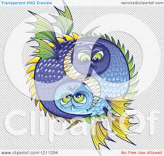 halloween reef transparent background cartoon of a halloween or pisces fish yin and yang royalty free