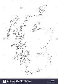 Map Of Glasgow Scotland Scotland Map Black And White Stock Photos U0026 Images Alamy