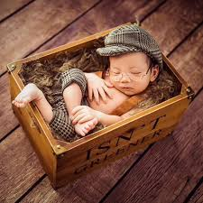 newborn photography props infant baby boy casquette cap gentleman newborn
