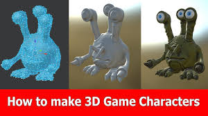 game design tutorial create 3d game characters jayanam