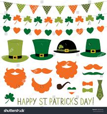 st patricks day hats decoration set stock vector 369438284