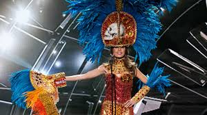 mayan halloween costume miss honduras had skulls on her miss universe costume what do