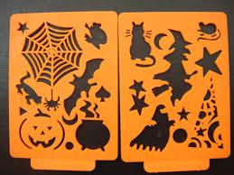 halloween stencils halloween stencil children jell plastics