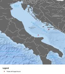 Adriatic Sea Map Adriatic Sea Description Of The Ecology And Identification Of The
