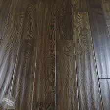handscraped rich chocolate oak lacquered engineered wood flooring
