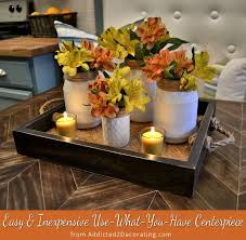 Easy Centerpieces Easy U0026 Inexpensive Use What You Have Centerpiece