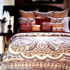 moroccan bedding sets in red 4pc moroccan red dalyan paisley