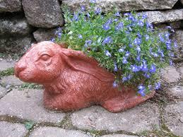 rabbit planter pot concrete flower pot