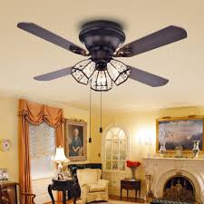 42 Inch Ceiling Fan With Light Tarudor 3 Light 4 Blade Wood With Antique Bronze