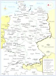 Map Og Germany by Detailled Map Of Germany Showing Cities Rivers And All States
