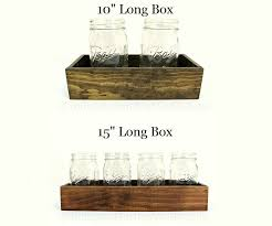 Wooden Centerpiece Boxes by Made To Order 10 Inch 15 Inch Wood Centerpiece Box Short