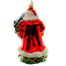 polonaise ornament santa with church glass ornament sbkgifts