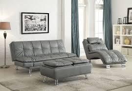grey euro styled futon sofa sleeper bed