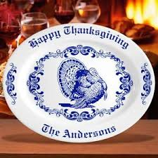 personalized ceramic platters personalized thanksgiving gifts