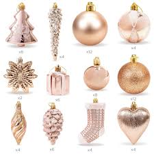 set of 72 handcrafted assorted ornaments gold