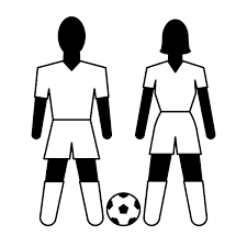 free black and white soccer clipart 50