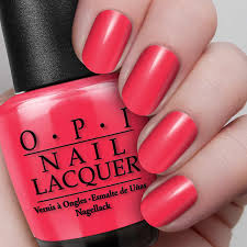 opi red nail lacquer opi