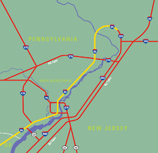 Map Of New Jersey And Pennsylvania by Traffic Facts