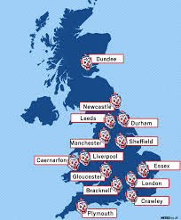 Sheffield England Map by Killer Clown Sightings Uk Map As Scary Craze Continues To Sweep