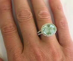 green amethyst engagement ring east west oval green amethyst and halo ring gr 2059