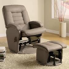White Glider Chair Shop Coaster Fine Furniture Casual Beige Vinyl Glider Chair At