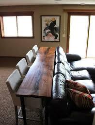 Yukon Console Table Console Tables Console Table With Bar Stools Behind Sofa Bar