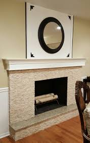 diy fireplace mantel in a traditional living space in 5 easy steps