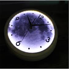 fashionable creative mute wall clock of art wall with leds