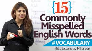 learn english u2013 15 most common misspelled words in english free