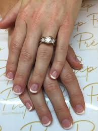 classic french polish on natural short nails prep beauty parlour