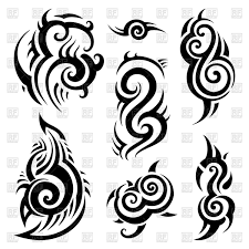 tattoo pictures download polynesian tattoo traceries royalty free vector clip art image