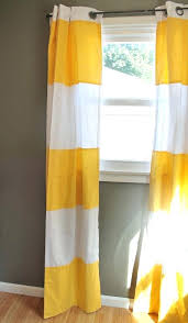 yellow stripe curtains affordable linen yellow brown white study
