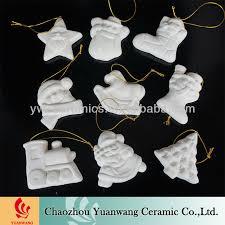 unpainted ceramic ornaments decore