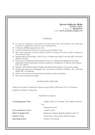 Software Testing Resume Samples For Freshers by Qa Tester Cv Sample Sample Quality Assurance Resume Examples