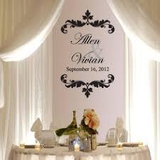 wedding backdrop monogram diy inspiration lace ribbon backdrops hemstitch vintage rentals
