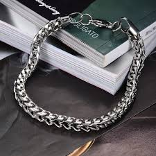 man hand bracelet images Hot sale summer style hand chain man stainless steel snake jpg