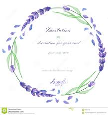 a circle frame wreath frame border with the watercolor lavender