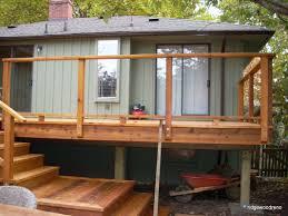 railings in glass aluminum and cedar from ridgewood ridgewood