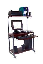 stand up l with shelves sts 7801 compact portable computer desk w hutch shelf keyboard