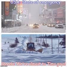 Canada Snow Meme - canada usa snow storm imgflip