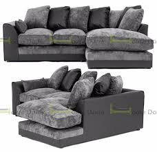 DAY MONEY BACK GUARANTEEAruba Chenille Fabric Corner Sofa Or - Corner sofa london 2
