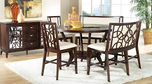 counter height dining table with bench cindy crawford home highland park ebony 5 pc counter height dining
