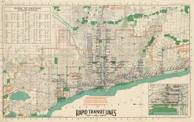 Chicago Tolls Map by Map Of Chicago Rapid Transit Lines 1926