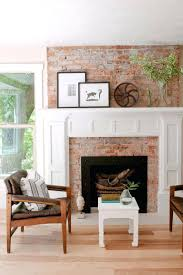 brick fireplace mantles exposed fireplaces faux ideas fake paper