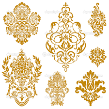set of ornate vector ornaments for invitations or